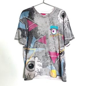 🔥RARE Mishka MNWKA Eyeball T Shirt Size L Eyeball